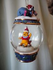 Disney Winnie The Pooh Snowglobe Christmas Ornament Eeyore and Piglet 2002