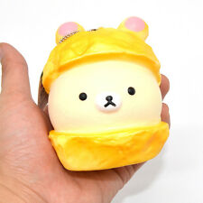 Licensed Kawaii Cartoon Rilakkuma Christmas Squishy Bread Scented Ballchain Toy