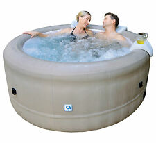"Rio Grande 29"" Deep Inflatable Portable Hot Tub  + Curved Black PVC Step incld"