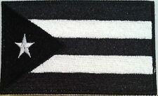 Puerto Rico Flag Black & White Military Tactical Iron-On Patch Shoulder Emblem