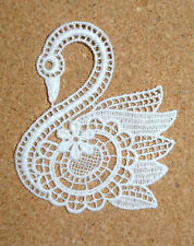 Lace motif - Birds - Swan - applique/sew on trim/craft/card making
