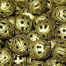50 Piezas 12mm Hierro encontrar Beads-Bronce-a6774