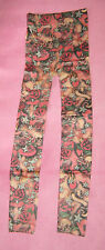 Tattoo Fleece Lined XS / S Ladies Tights new retro Winter Warmer New SKULL