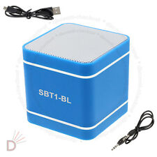 Mini Blue 300mAh Speaker Wireless Bluetooth 3.0 Hands-Free For PC Phone's UKDC