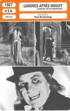 FICHE CINEMA : LONDRES APRES MINUIT Chaney,Day,Browning1927London After Midnight