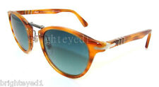 Authentic PERSOL Typewriter Edition Polarized Sunglass PO 3108 - 960/S3 NEW 49mm