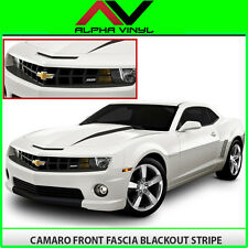 Chevy Camaro 2010 2011 2012 2013 Front Fascia Blackout Stripe Matte Black