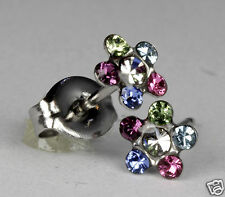 Studex Sensitive Stainless Steel Rainbow Crystal 5.25mm Daisy Stud Earrings