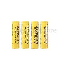 4x TR 14500 3.7V 2500mAh Rechargeable Li-ion Battery For Flashlight Torch Yellow
