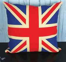NEW LINEN COTTON NATURAL BRITISH FLAG CUSHION COVER GIFT VINTAGE HOME UNION JACK