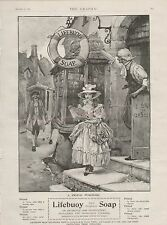 1899 ADVERT LIFEBUOY SOAP STREET SCENE SEDAN CHAIR