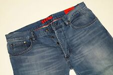Nuevo-Hugo Boss-w34 l34-Stretch-red 677/8 Blue Denim regular jeans 34/34