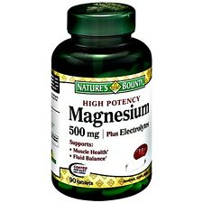 HIGH POTENCY MAGNESIUM PLUS ELECTROLYTES 500mg DIETARY SUPPLEMENT 90 DAY SUPPLY