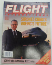 Flight International Magazine Shrontz Charts Boeing March 1990 FAL 061015R