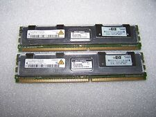4GB HP Certified DDR2 667MHz PC2-5300F Fully Buffered Server FBDIMM, 2x 2GB pair