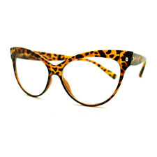 True Goth Cat Eye Clear Len Fashion Optical Eye Glasses - Tortoise