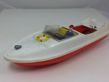Vintage JK Toys Large Plastic Battery Operated Speedboat