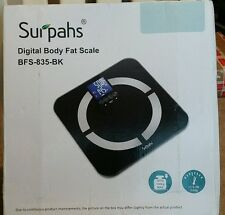 Digital Bathroom Scale Surpahs Body Fat Monitor Sense-ON Multifunction - Black