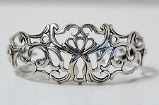 Signed Carolyn Pollack Country Couture Filigree Cuff Bracelet 925 Silver (02458)