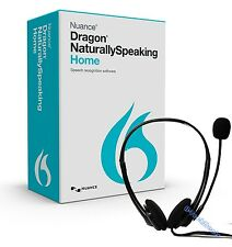 NUANCE Dragon NaturallySpeaking Home 13 w/ Headset @NEW@