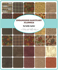 Endangered Sanctuary  FLANNEL 1 Charm Pack Quilt Fabric  42  5""