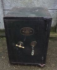 FINE ANTIQUE VINTAGE IRON HOME OFFICE SAFE - FIRE RESISTANT -  2 MAN DELIVERY