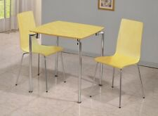 Fiji Small Dining Set In Beech Chrome Table and 2 Chairs