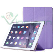 2x Pellicola+Custodia smart cover VIOLA per Apple iPad Air 2 2014 case stand