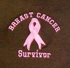 Survivor Sweatshirt L Breast Cancer Pink Ribbon Brown Crew Neck Embroidered New