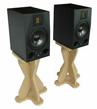 Desk Studio Monitor/Speaker Stands 43.5cm 435mm Desktop DJ CDJ Wooden MDF