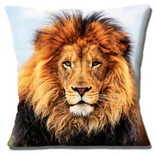 "NEW LION 'KING OF THE JUNGLE' CLOSE UP PHOTO PRINT HEAD 16"" Pillow Cushion Cover"