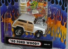 MUSCLE MACHINES Cartoons '50 Ford Mothers Woody #C02-17 Real Riders White