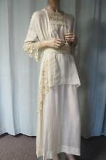 1910's Circa Antique Silk Elaborate Embroidery Frock Gown Dress ~Stunning~Bride