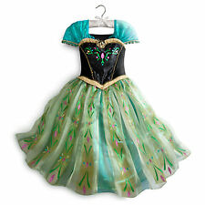DISNEY STORE PRINCESS ANNA DELUXE CORONATION COSTUME Size 4 XS NWTs FROZEN