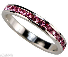 Pink Ice 1 carat Eternity Band Platinum overlay size 7