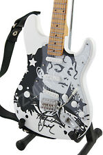 Miniature Guitar Michael Jackson White Signature & Strap