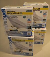 4x Meridian LED PAR36  4 Watt = 36 W, Ip65 Multipurpose Base Bright White 3000k