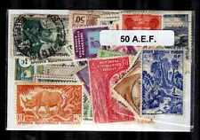Afrique Equatoriale Française - AEF 50 timbres différents