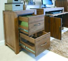 Linea solid walnut home furniture two drawer office computer filing cabinet