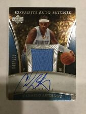2006 Carmelo Anthony Exquisite Auto Patch 49/100