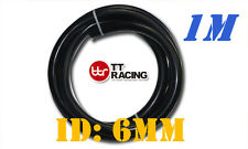 "Silicone 1/4"" 6mm Vacuum Tube Hose Sold by Meter 1 M 3.3FT Silicon Black"