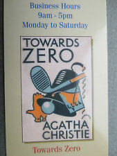 BOOKMARK AGATHA CHRISTIE TOWARDS ZERO 1944 Book Cover Wallace & Scott Books