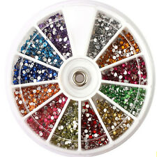 Nail Art 3D DIY Rhinestones Decoration For UV Acrylic Accessories 1.5mm 3600pcs