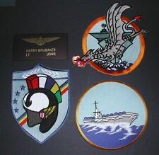 BRIDGES OF TOKO-RI MOVIE US Navy Squadron Jacket Patch Set LT BRUBAKER NAME TAG