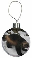 Wolferine in Snow Christmas Tree Bauble Decoration Gift, AGL-1CB