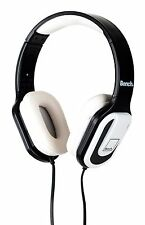 NEW BENCH BEAT ON EAR OVER HEAD HEADPHONES WITH MIC FOLDABLE WHITE/BLACK