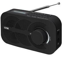 Logik lrbdab 14 portable dab fm radio lcd affichage noir secteur ou batterie alimenté
