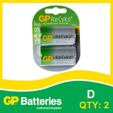GP ReCyko+ NiMH D Battery card of 2 [RECHARGEABLE BATTERIES]