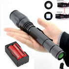 CREE 2500LM T6 XM-L LED Flashlight Torch Light + 2X 18650 Battery + Dual Charger