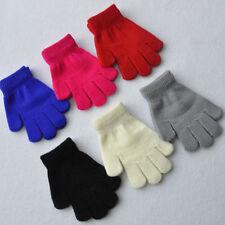 Fashion Unisex Women Girls Knitted  Fingerless Winter Gloves Soft Warm Mittens
